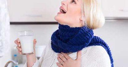 Народные средства для снятия боли в горле